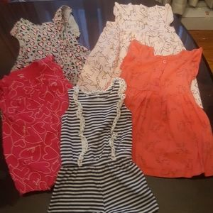 5- 18mo. Summer dresses/rompers